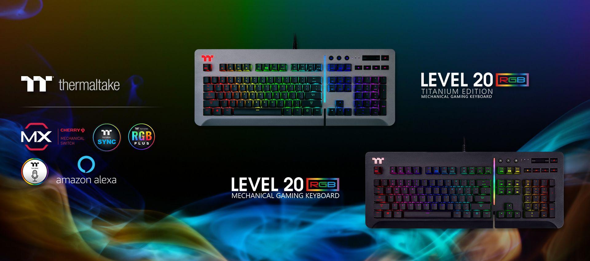c488620b5f1 Level 20 RGB Titanium Gaming Keyboard (Speed Silver)
